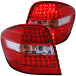 MBZ M CLASS W164 06-07 L.E.D TAIL LIGHTS RED/CLEAR