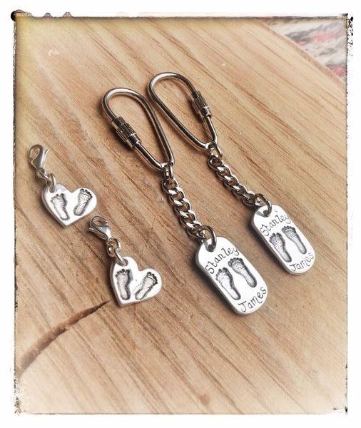 Medium Hand/Foot/Paw Print Keyring