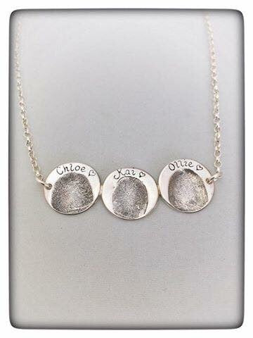 Double/Triple Fingerprint Coin Necklace