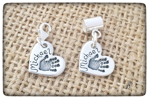 Hand/Foot/Paw Print Charm  (to fit Pandora)