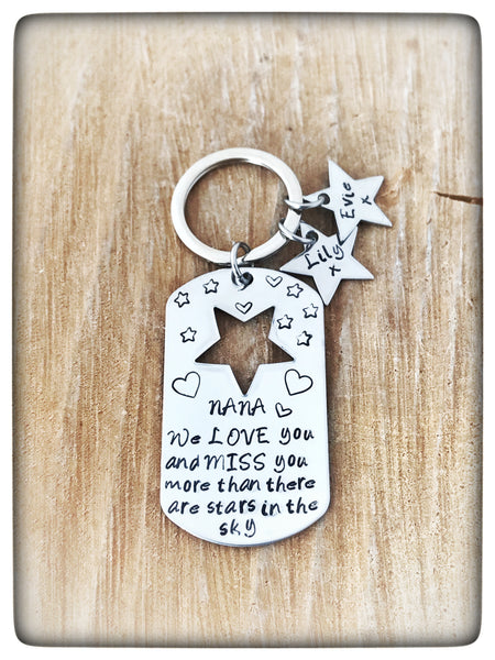 """More than there stars in the sky"" Keyring"