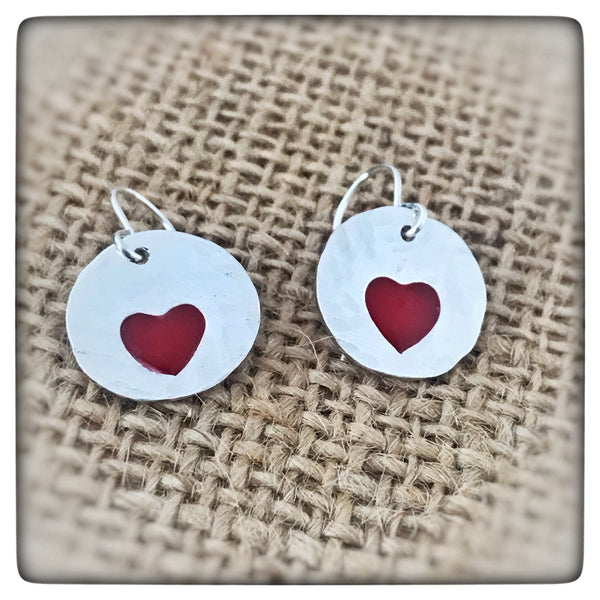 Valentines Sterling Silver Heart Earrings