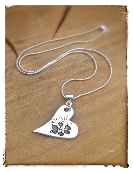 Large Hand/Foot/Paw Print Pendant / Necklace