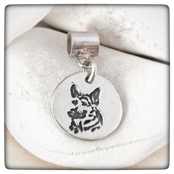 UK-GSR GERMAN SHEPHERD  Pandora Style Charm (15% Donation to the rescue )