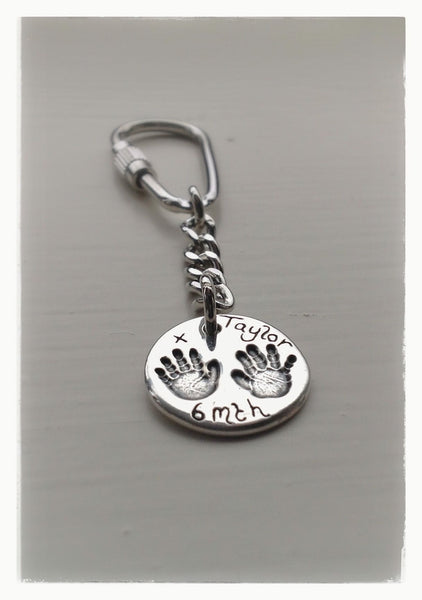 SMALL Hand/Foot/Paw print Keyring