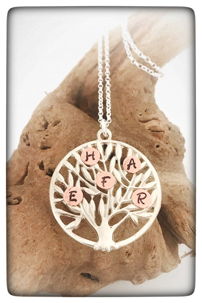 Personalised Silver Family Tree Necklace
