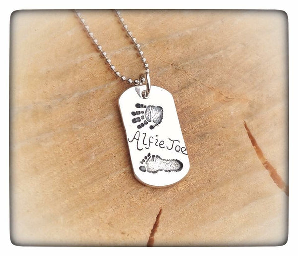 Hand/Foot/Paw Print Dog Tag