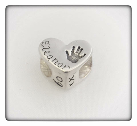 SOLID SILVER DOUBLE SIDED CHARM BEAD