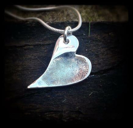 Medium Fingerprint Pendant / Necklace