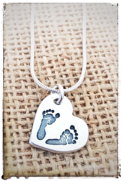 Medium Hand/Foot/Paw Print Pendant / Necklace