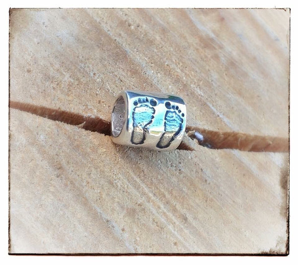 Hand/Foot/Paw Print Barrel Bead