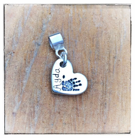 Double Sided Hand/Foot/Paw Print Charm  (to fit Pandora)