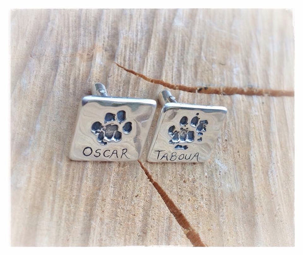 Hand / Foot / Paw Print Square Cufflinks