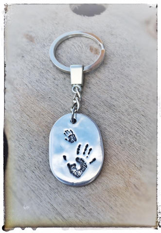 EXTRA LARGE Hand/Foot/Paw Print Keyring