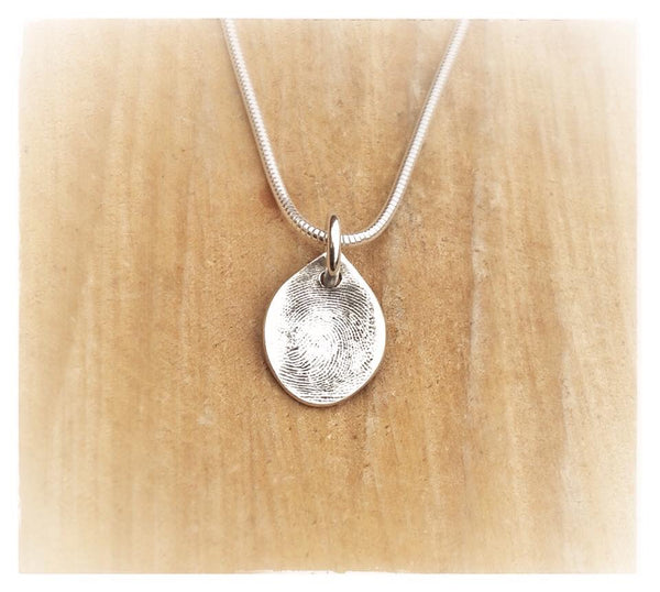 Small Fingerprint Pendant / Necklace