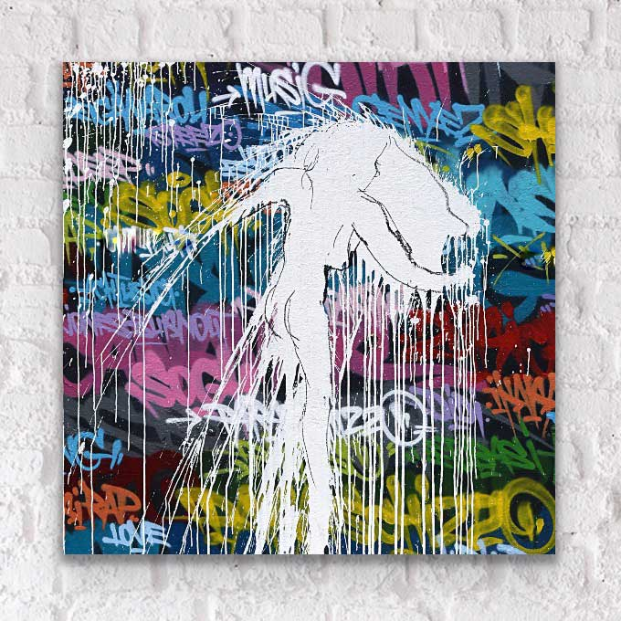 Contemporary street affordable fine art print on plexiglass acrylic