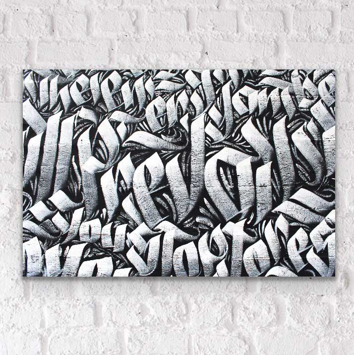Graffiti street affordable fine art print on acrylic glass