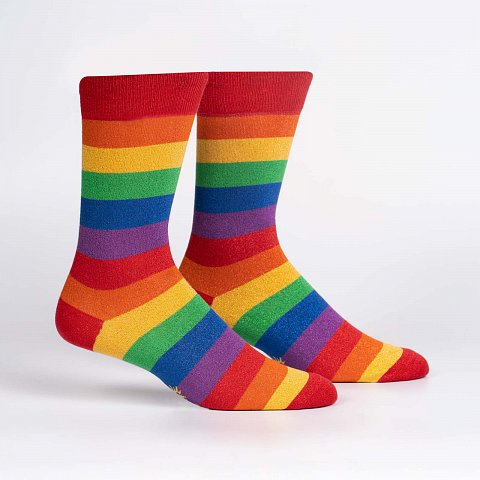 March With Pride -Rainbow- Shimmer- Socks (Men's)