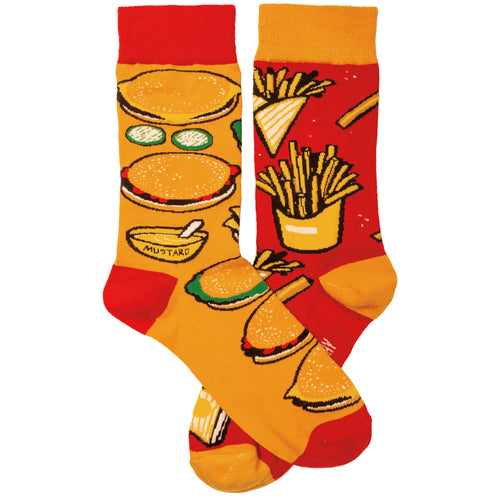 Burgers and Fries Socks (Unisex )
