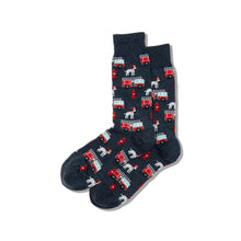 Load image into Gallery viewer, Firefighter / Firetruck/ Dalmatian  Socks (Men's)