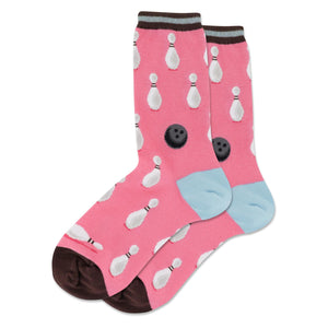 Bowling Ball and Pins Socks with Stripe (Women's)
