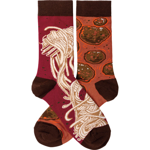 Spaghetti and Meatballs Socks (Unisex)