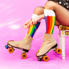 Load image into Gallery viewer, Rainbow Cloud Socks (Unisex) Knee High