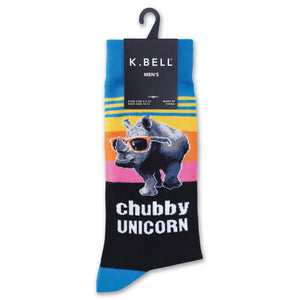 Chubby Unicorn / Rhino With Sunglasses Socks : Arch Support