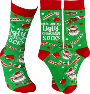 These Are My Ugly Christmas Socks (Women's)
