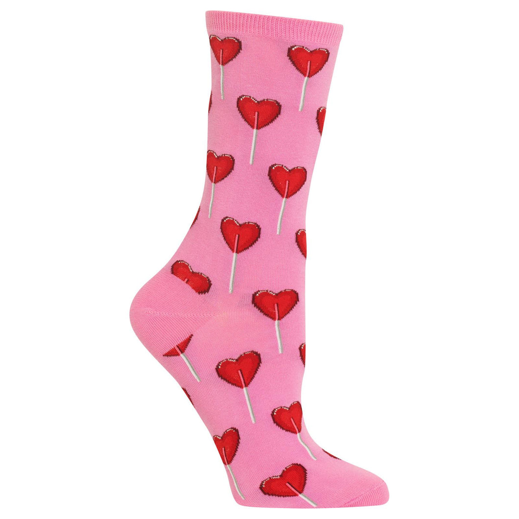 Heart Lollipop Candy Socks (Women's)