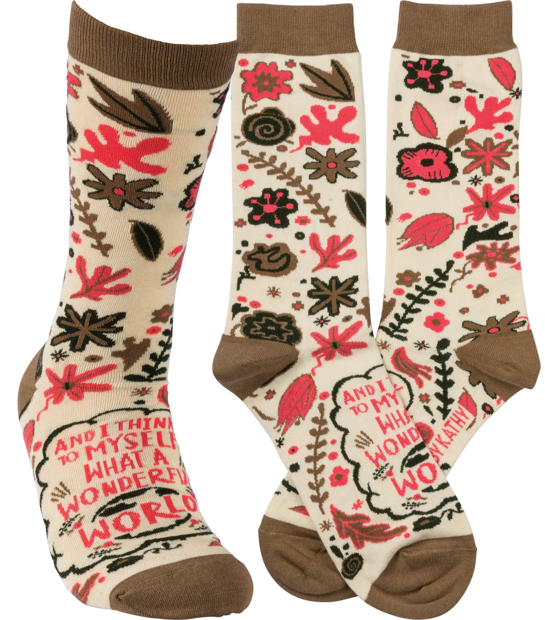 I Think To Myself What A Wonderful World Socks (Unisex)