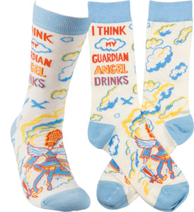 I Think My Guardian Angel Drinks Socks (Unisex)
