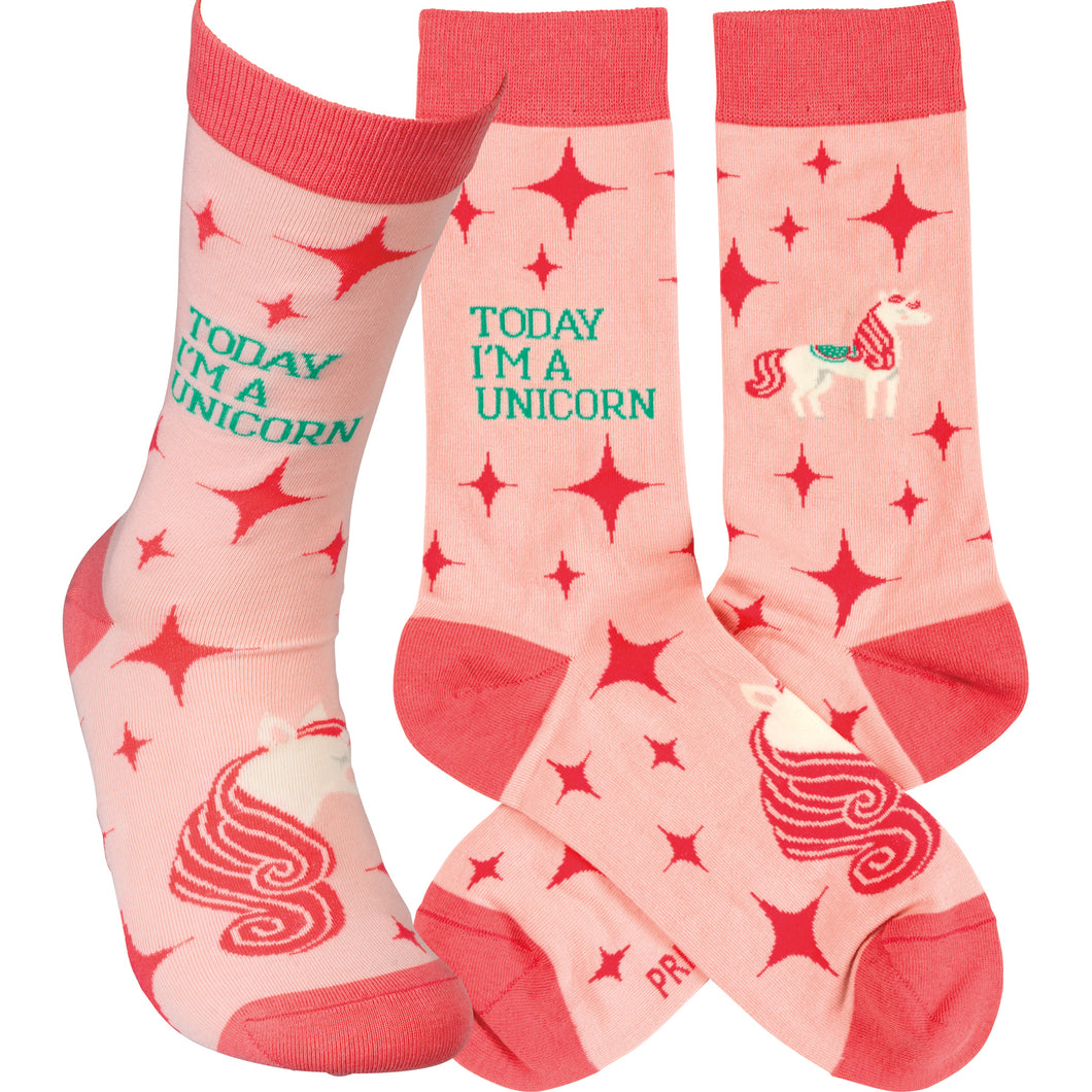Today I'm a Unicorn Socks  (Unisex)