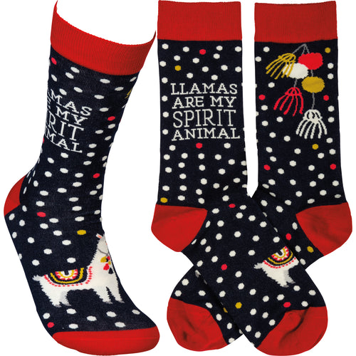 Llamas Are My Spirit Animal Socks (Unisex)