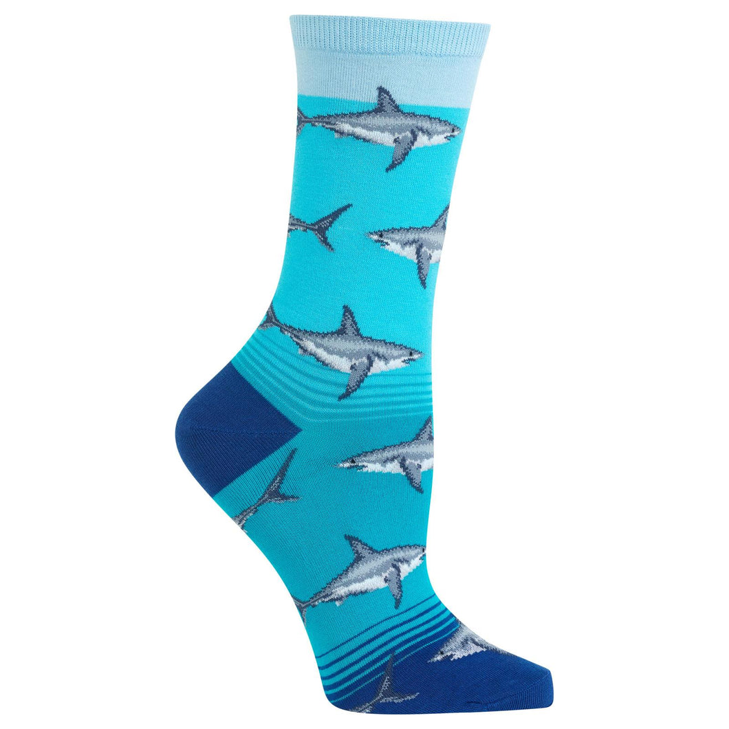 Great White Shark Socks (Women's)