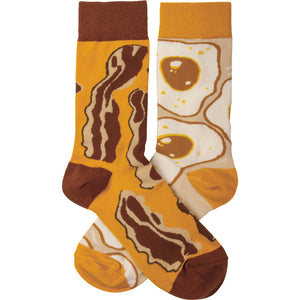 Bacon and Eggs Socks (Unisex)