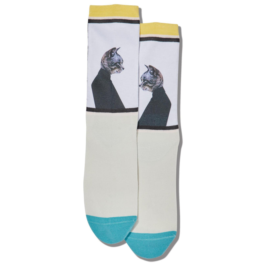 Humanistic Cat Socks (Women's)