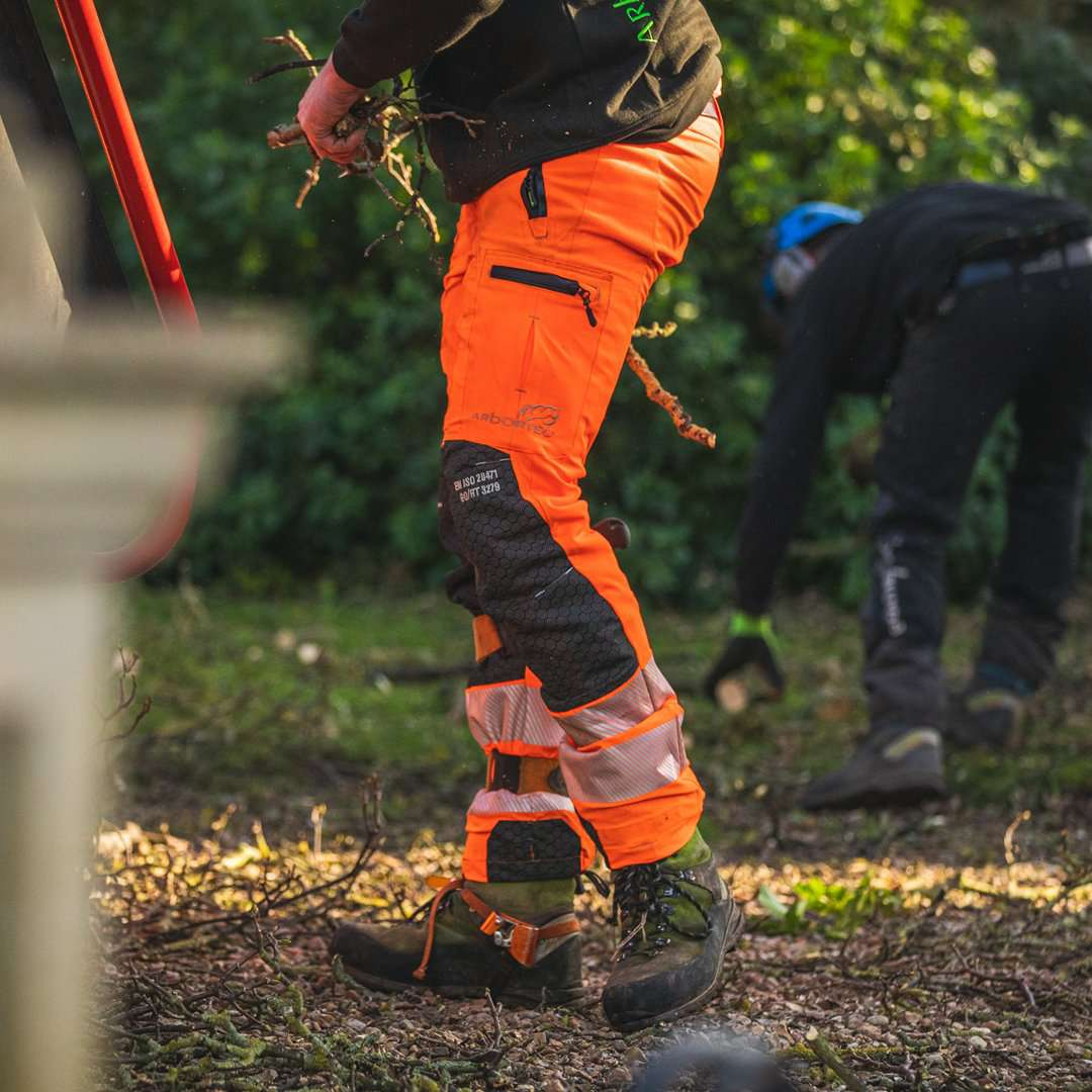 AT4070 Breatheflex Pro Type C Class 1 Chainsaw Trousers - Hi-Vis Orange
