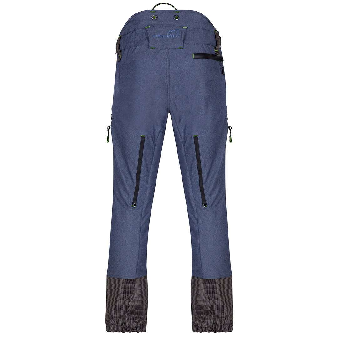 arbortec breathflex pro type a class 1 chainsaw trousers in denim colour - rear