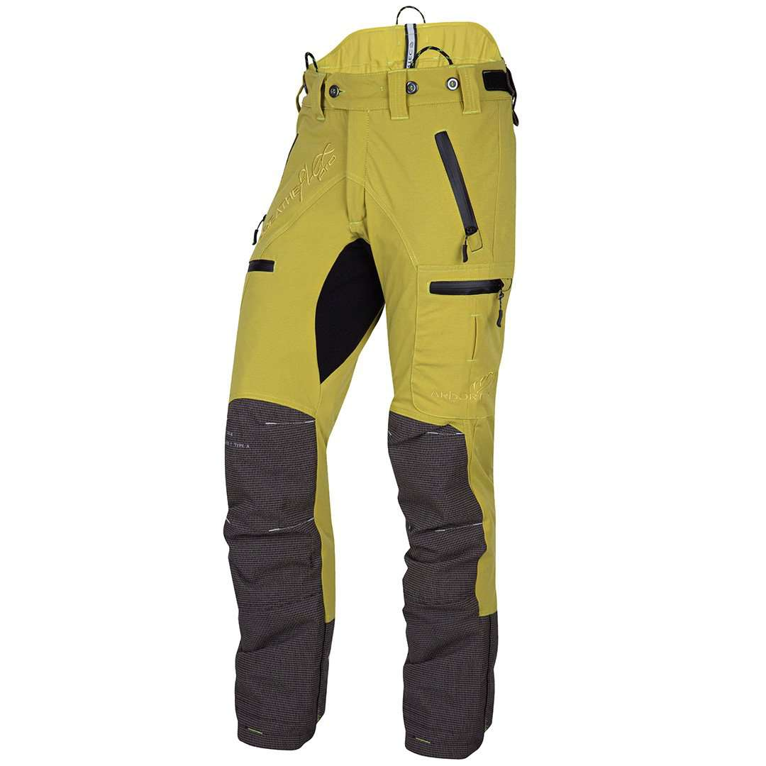 AT4060 Breatheflex Pro Type A Class 1 Chainsaw Trousers - Citrine - Arbortec Forestwear