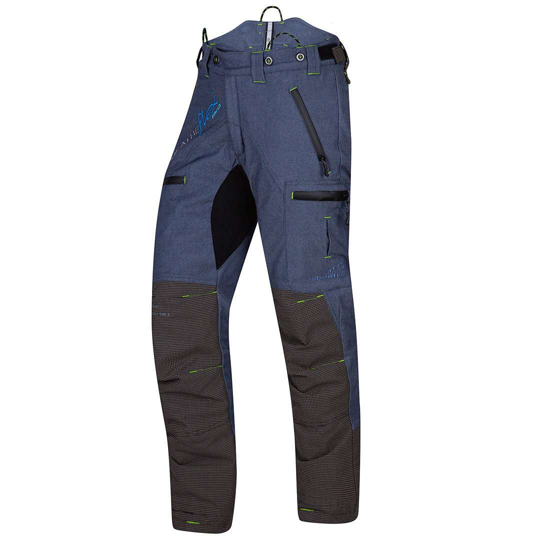 arbortec breathflex pro type a class 1 chainsaw trousers in denim colour