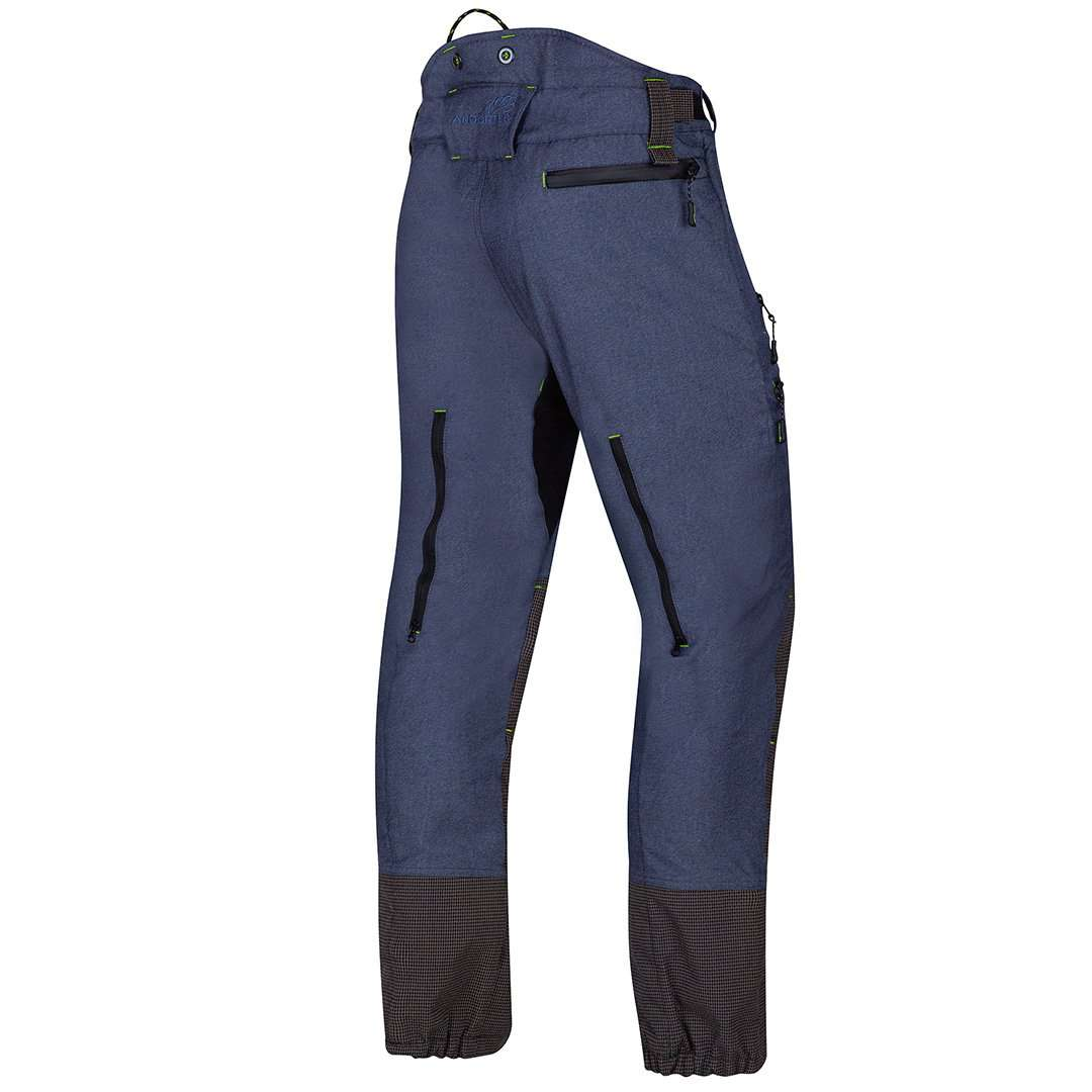 arbortec breathflex pro type a class 1 chainsaw trousers in denim colour - rear angle