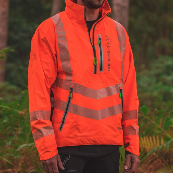 Breathedry Waterproof Smock Hi-Vis Orange