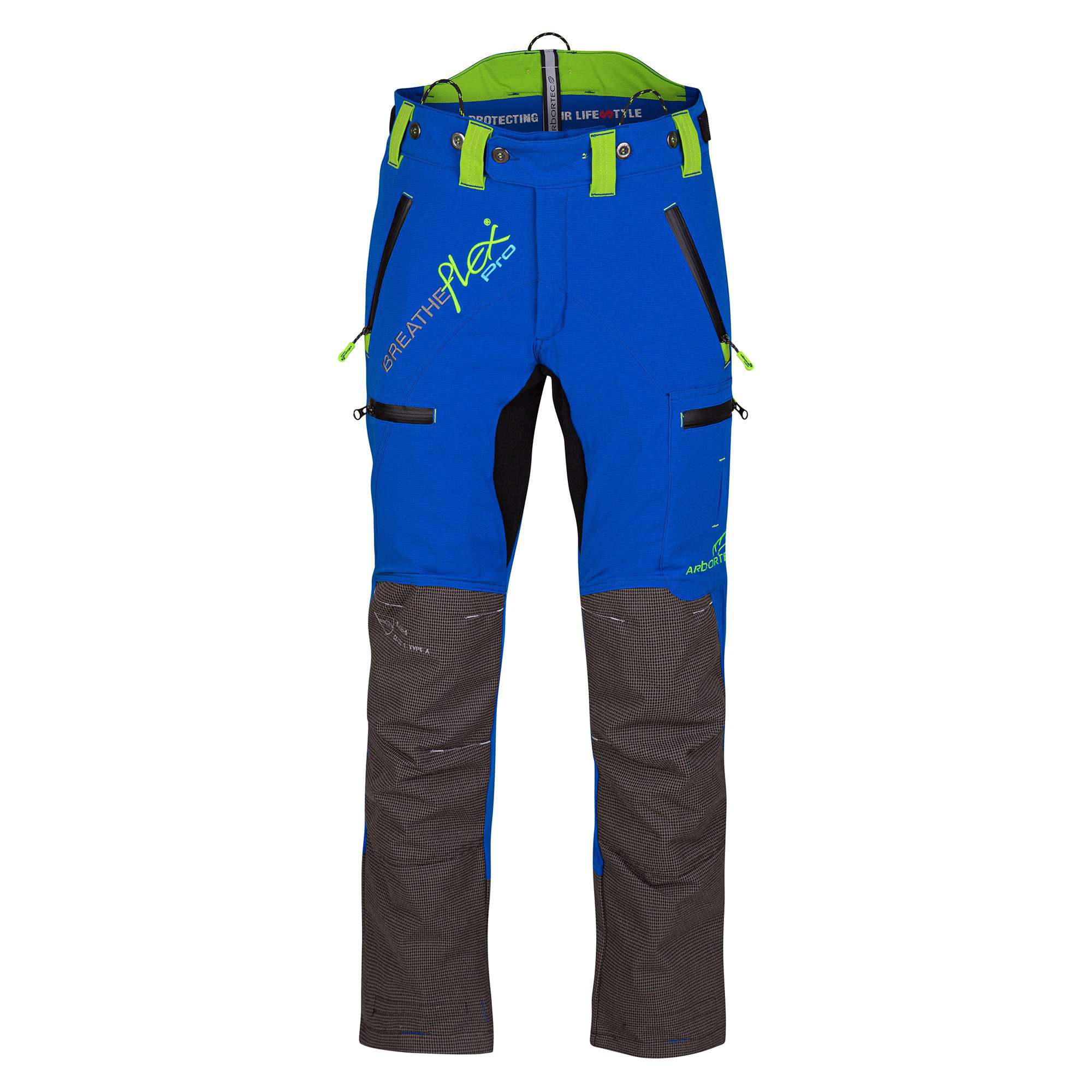 AT4070 Breatheflex Pro Type C Class 1 Chainsaw Trousers - Blue - Arbortec Forestwear