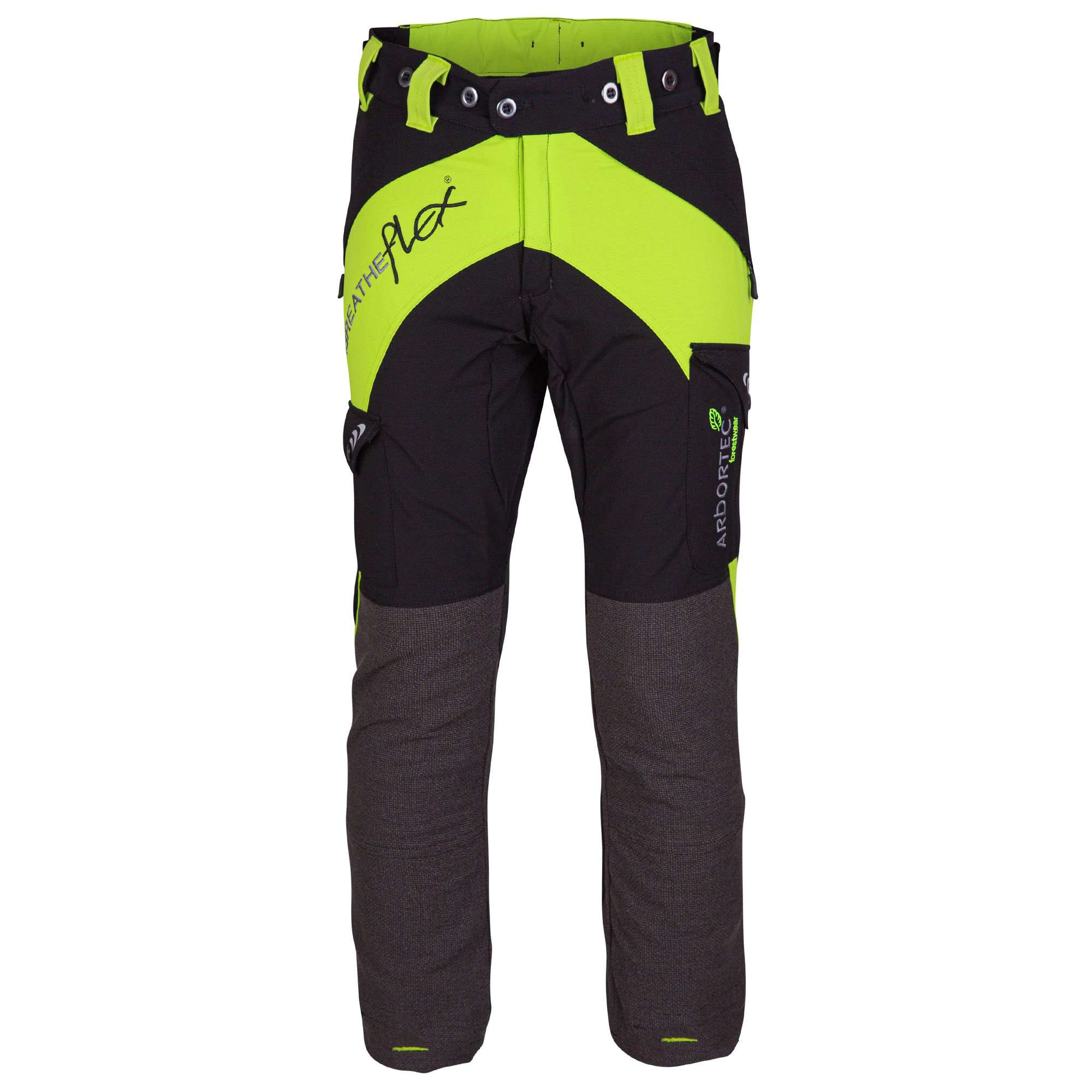 AT4010 Breatheflex Ladies Type A Class 1 Chainsaw Trousers - Lime - Arbortec Forestwear