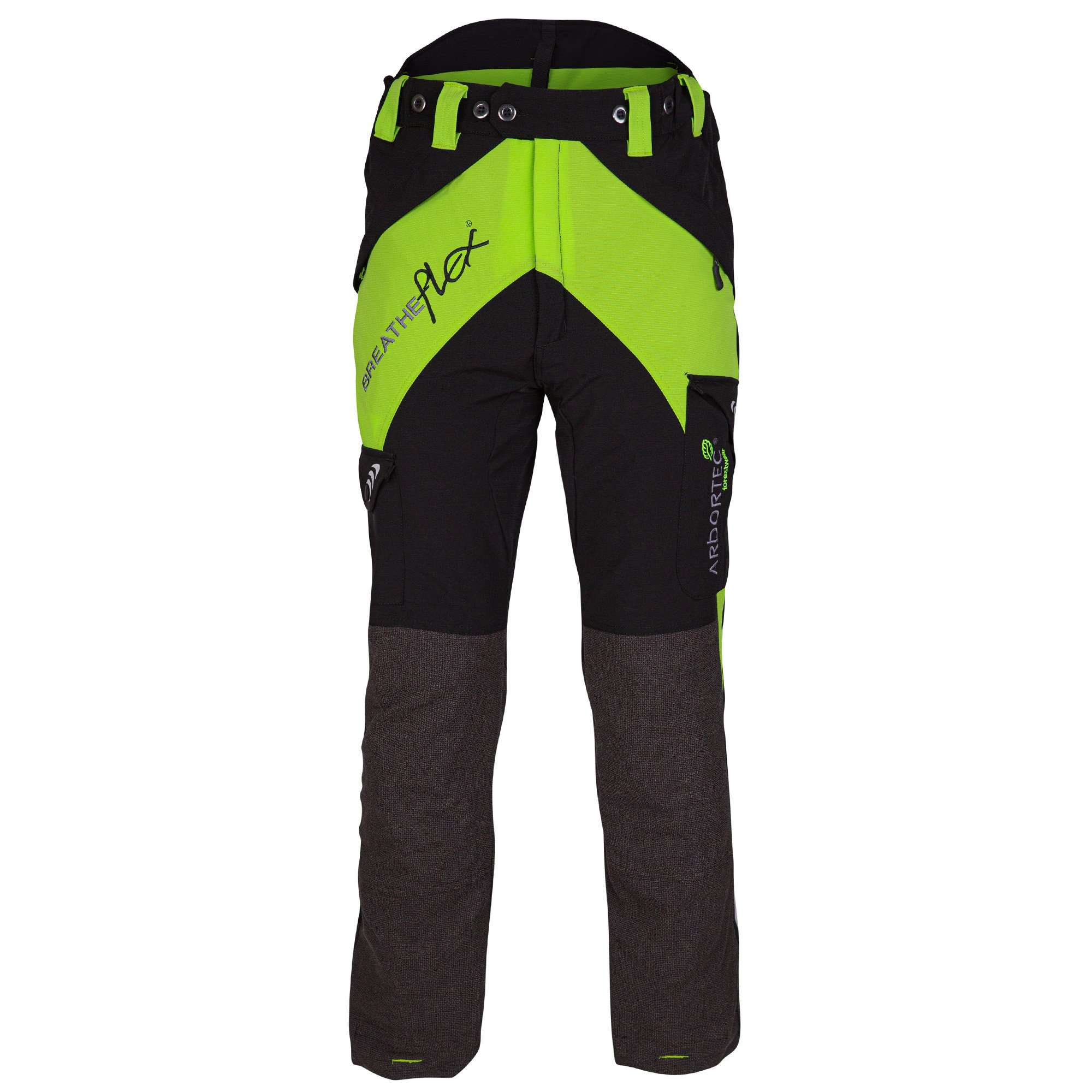AT4050 AT4040 AT4035 Breatheflex Type C Class 1, 2 ,3 Chainsaw Trousers - Lime - Arbortec Forestwear