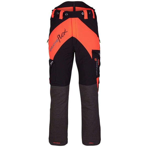 AT4010 Breatheflex Type A Class 1 Chainsaw Trousers - Orange