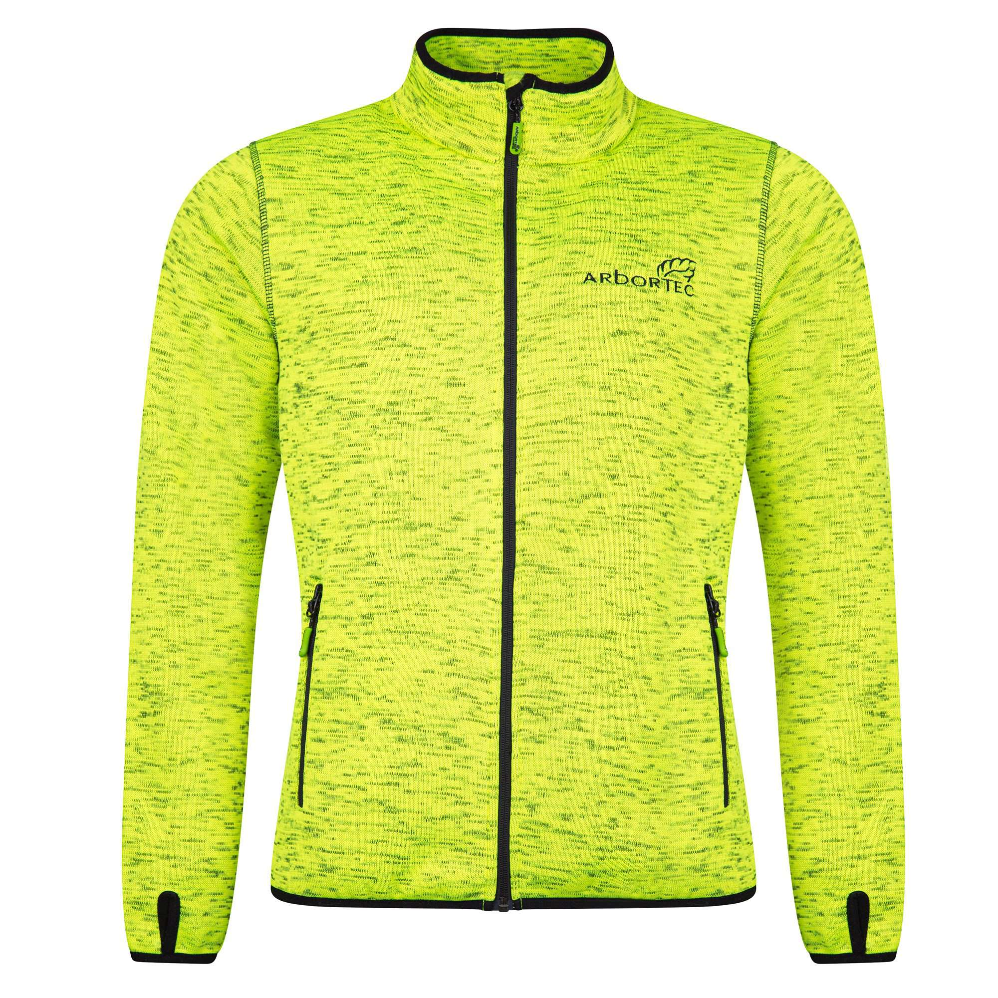 AT4850 Kudu - Knitted Mélange Jacket - Yellow - Arbortec Forestwear