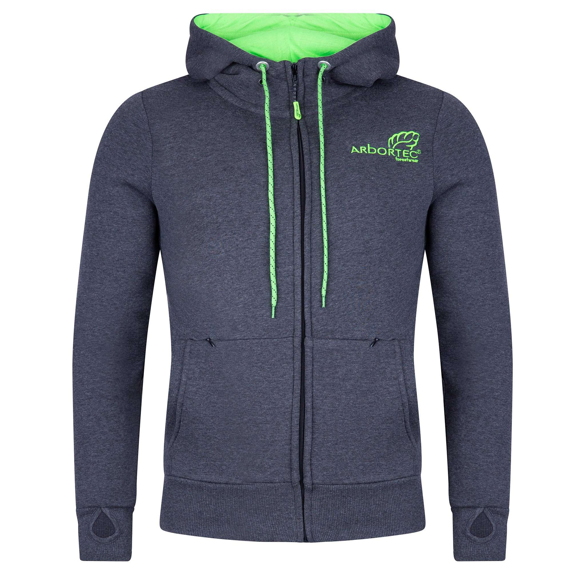 AT5020 Arbortec Zip Hoodie - Charcoal Grey