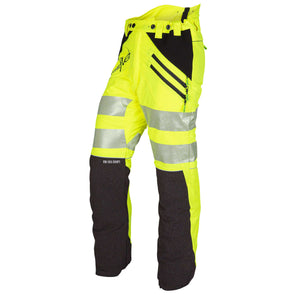AT4050 Breatheflex Type C Class 1 Chainsaw Trousers - Hi-Vis Yellow/Kevlar